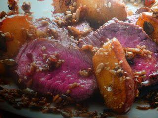 un mondo di ricette: filetto al pepe rosa - con semi caramellati