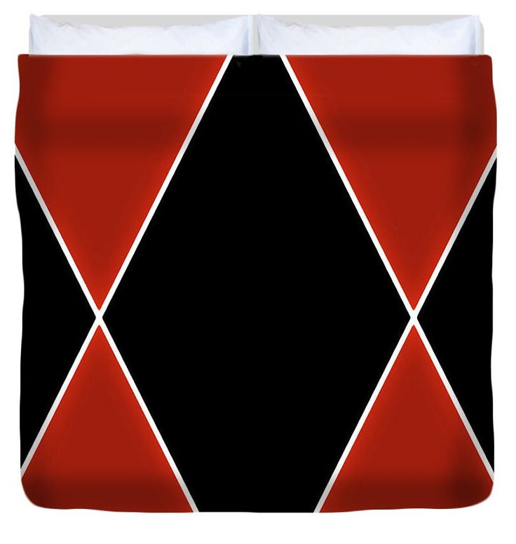 Red Black Diamond Duvet Cover,Modern Decor,Abstract Design,King,Queen,Full,Twin,Contemporary Duvet,Comforter Cover,Red and Black Bedding by HeatherJoyceMorrill on Etsy