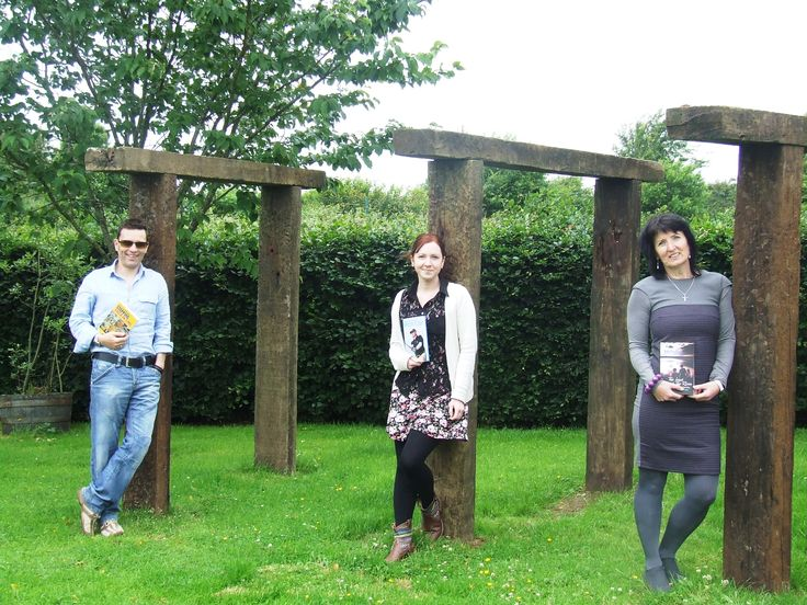 How's this for an arty photo? Hanging out in my Publisher's garden with Niall and Aine from Book Hub Publishing.