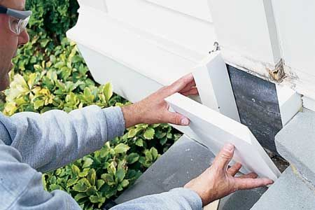 How to repair rot damage with a dutchman diy lifehacks - Refinishing damaged wood exterior doors ...