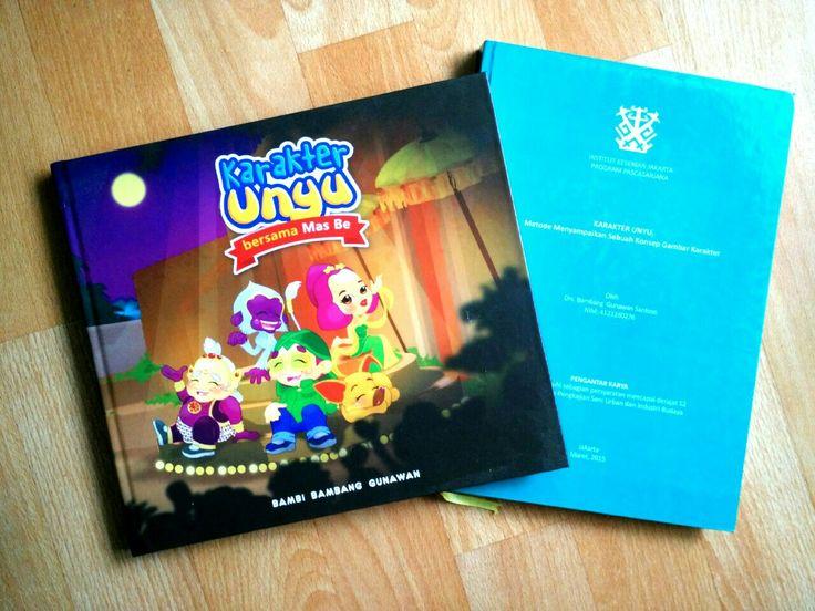 "Thesis saya di pascasarjana IKJ tenting ""karakter unyu"" mencuri ilmunya Korea. #unyu2 #karyamasbambi #unyu_korea"