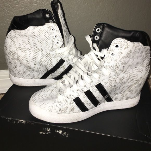 Wedged sneaker Adidas wedged sneakers worn once Adidas Shoes Wedges