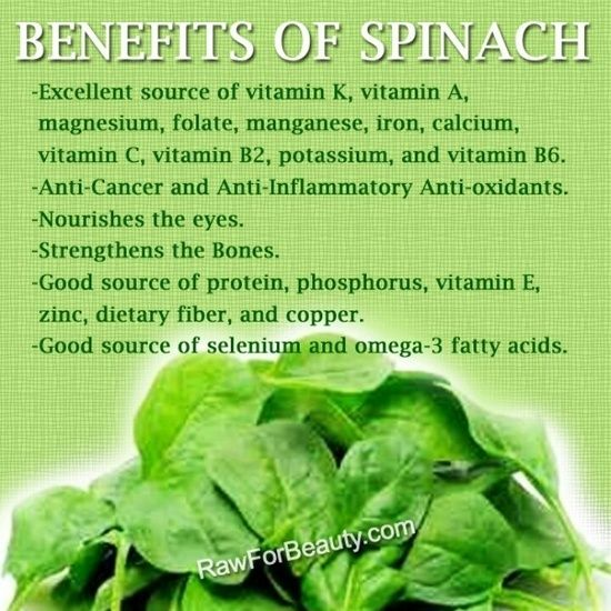 Health Benefits of #Spinach
