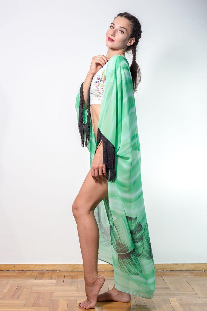 Maxi Tassel kimono