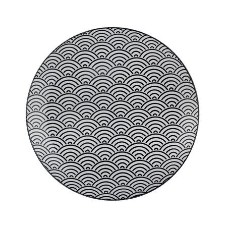Tokyo Design Studio - Nippon Black Dinner Plate - Wave