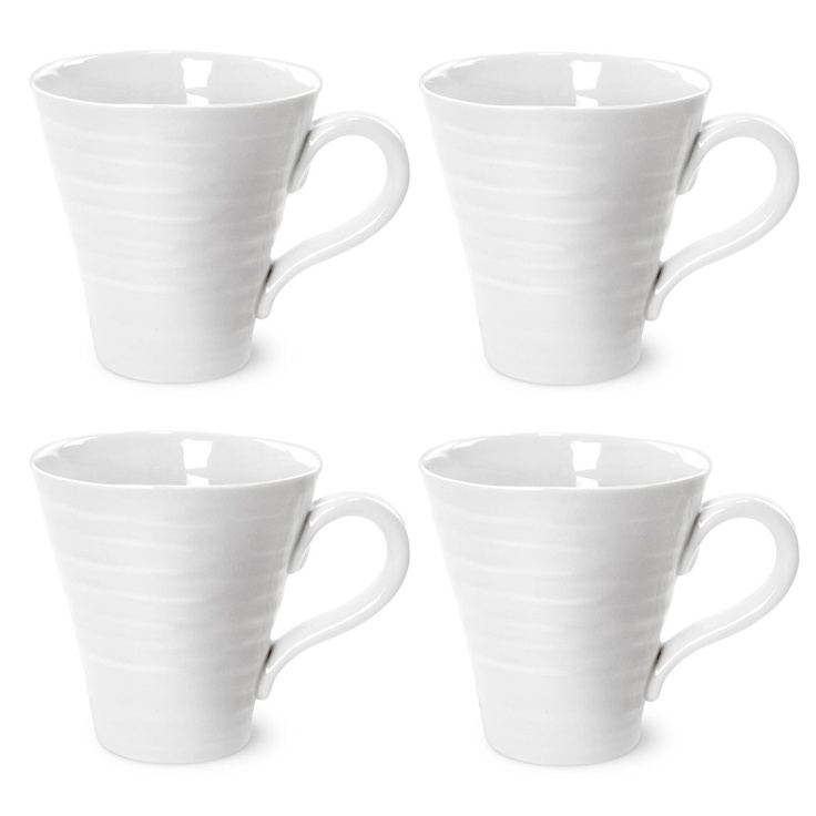 Sophie Conran White Mugs Set of 4 (Gift Boxed). 0.35l (12.5 oz). Product Code: CPW76803-X.  Call 905·885·9250.
