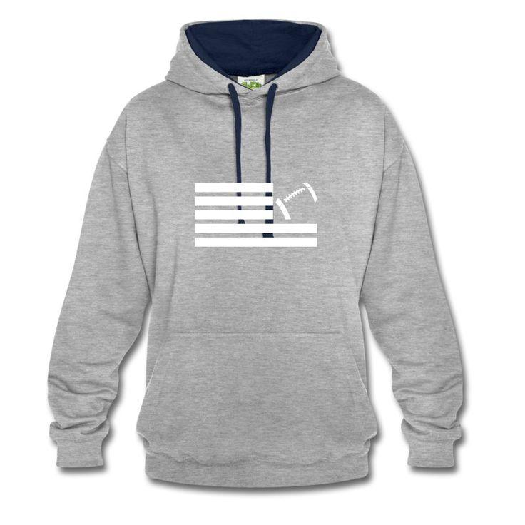 Land Of Football Kontrast Kapuzensweater by 40 Burger // Finest Football & Fashion. #americanfootball #football #lof #40b #nfl #rannfl #kapuzensweater #hoodie #kapuzenpullover #contrasthoodie #streetwear