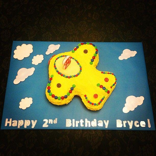 Aeroplane birthday cake made for my little man's 2nd birthday xxx