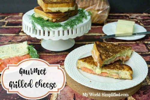 Gourmet Grilled Dill Havarti and Salmon Sandwich