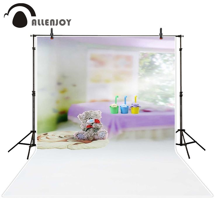 16.97$  Buy here - Allenjoy photographic background Rooms fuzzy teddy bear for children backdrops baby princess studio photocall 150x200cm  #buyonline