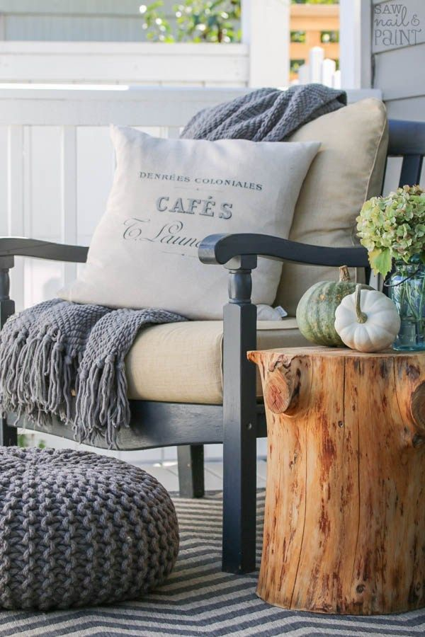 Front Porch Makeover for Fall by Saw Nail and Paint