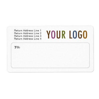 custom mailing shipping labels with company logo company logo and