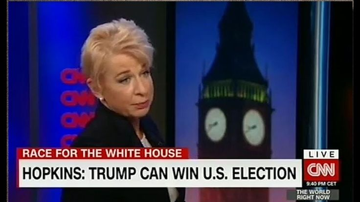 """Hopkins calls CNN the Clinton News Network, anchor loses it... OMG !! I never heard of this woman, Katie Hopkins, But I can tell you.. She is BADDASS !!! She just bitch slapped this smug """"Clinton News Network reporter ! A Must See !!"""