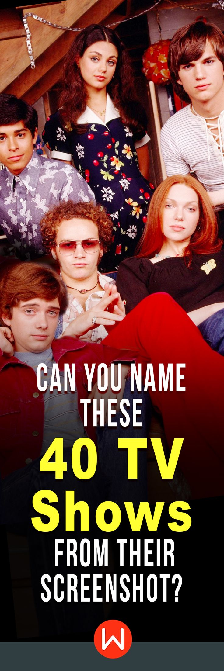 Top 40 Tv shows. This is a quiz on the most popular and recognized American television shows to have ever aired. From That 70s show to Seinfeld to Friends, do you know all of these iconic tv shows? American sitcoms quiz, Fun quiz, TV test, Pop Culture quiz. #tvshows #sitcoms #quiz #popculture