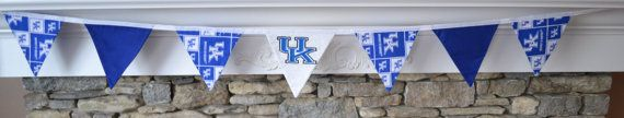 University of Kentucky bunting with by ShuhpuppyAndDeppy on Etsy, $20.00