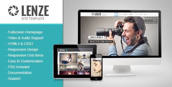 Lenze - Photography Portfolio HTML Template