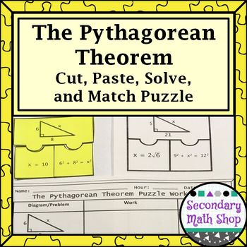 how to solve pythagorean puzzle cutting out