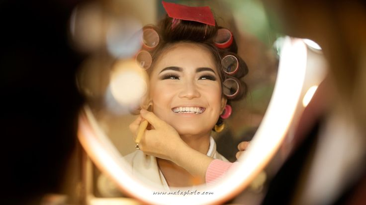 Bride make up & hair do session for Patricia's wedding at The Mulia Bali