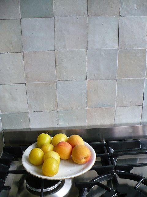 Credence Cuisine Zelliges Home In 2019 Kitchen Backsplash