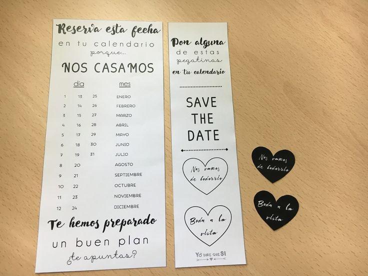 Blog de bodas - Yo dire que si: Save the Date para tu boda. ¡¡¡Plantilla gratis descargable!!!