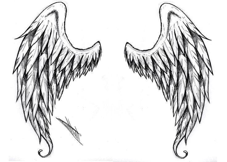 black and white angel wings tattoo designs pin angel wing tattoos nike wings tattoo. Black Bedroom Furniture Sets. Home Design Ideas