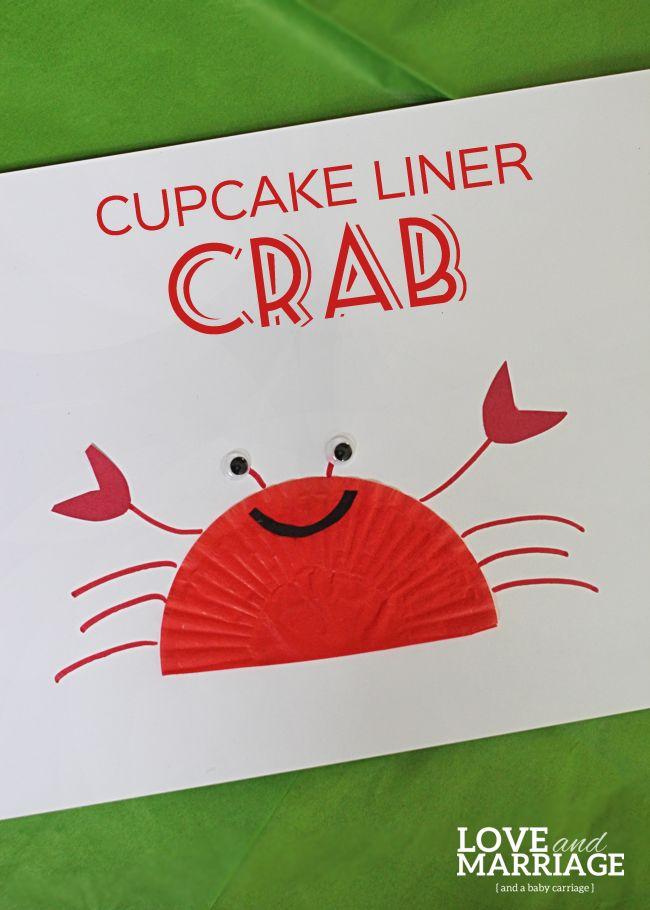 Cupcake Liner Crafts: Crab // Cangrejo con envase de cupcake