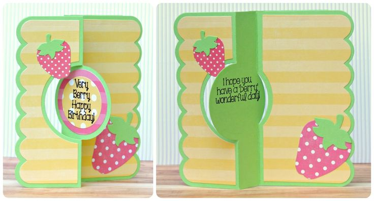 card by laura williams, featuring The Stamps of Life strawberries2stamp clear stamp set, and Flip-its dies from Sizzix
