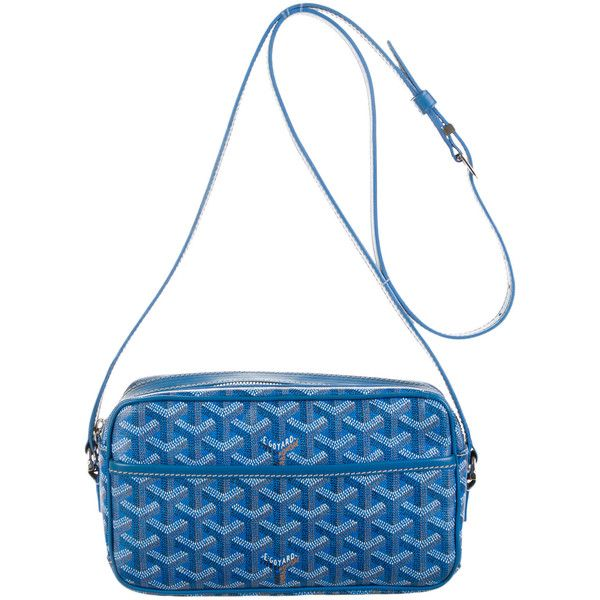 Pre-owned Goyard Amacapvert Crossbody Bag ($1,095) ❤ liked on Polyvore featuring bags, handbags, shoulder bags, blue, crossbody shoulder bags, white crossbody purse, white crossbody handbags, goyard handbags and blue cross body purse