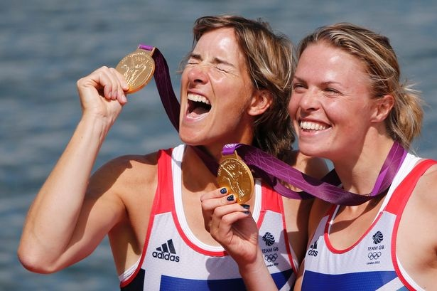 "Glaswegian Katherine Grainger (5ft 11.5"") won gold - with Anna Watkins (6ft 1"") in the double sculls at the London Olympic Games 2012"