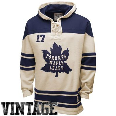 Men's Toronto Maple Leafs Old Time Hockey Stone Home Lace Heavyweight Hoodie