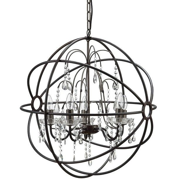 Crystal Sphere Chandelier | Orb Chandelier With Crystals