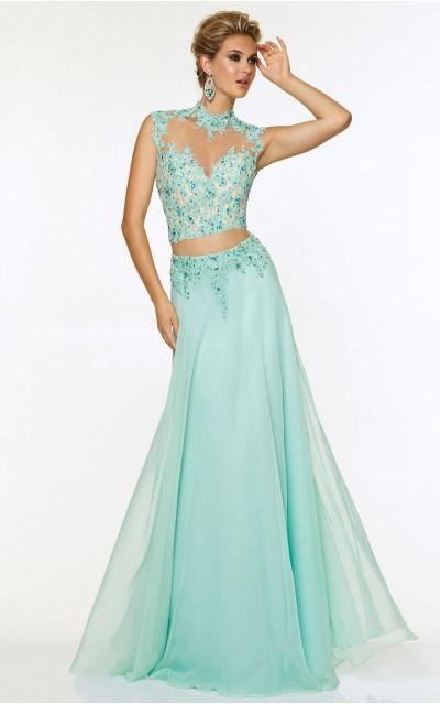 Halter Cap Sleeves A-line Zipper Floor-length Formal Dresses afbb1076