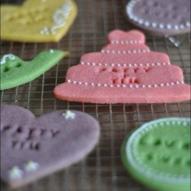 Colourful cookies. no icing, all done before bake