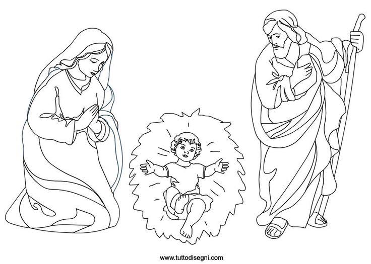 Φάτνη της Γεννήσεως - Μαρία Ιωσήφ και τον Ιησού χρωματισμό