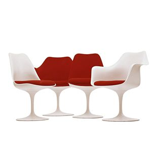 Designed as an exercise in clarifying form, Eero Saarinen's Tulip chair sets new standards for modern design.