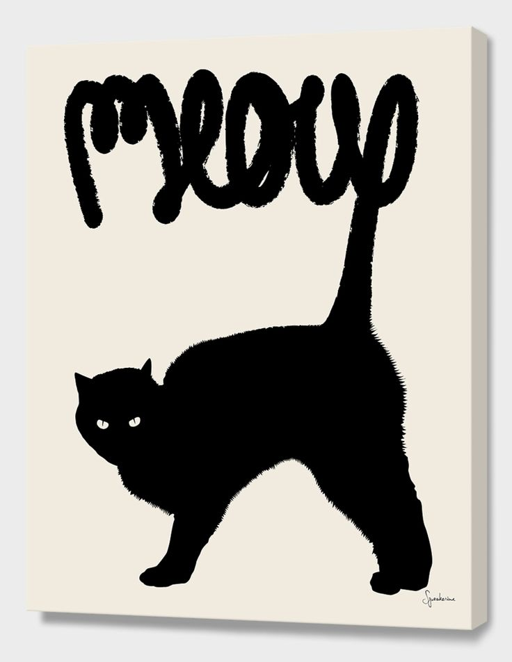 """Meow"", Numbered Edition Canvas Print by Florent Bodart - From $89.00 - Curioos"
