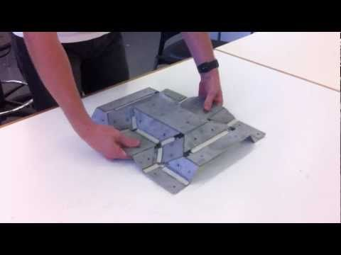 Thick Rigid Origami - Sheet Metal Model - YouTube