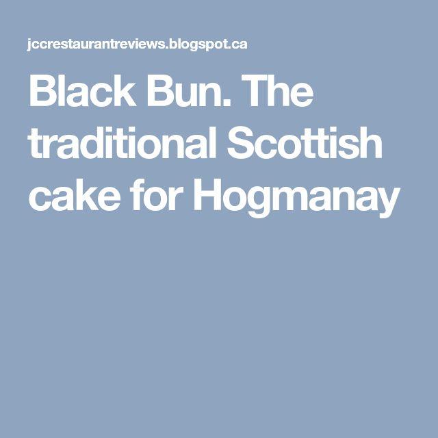 Black Bun. The traditional Scottish cake for Hogmanay