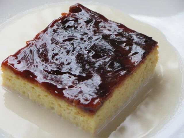 "Trilece, the Turkish version of the well known latin Tres Leches ""three milk"" cake. This cake consists of a cake that has been soaked in three types of milk and then topped with a caramel topping."