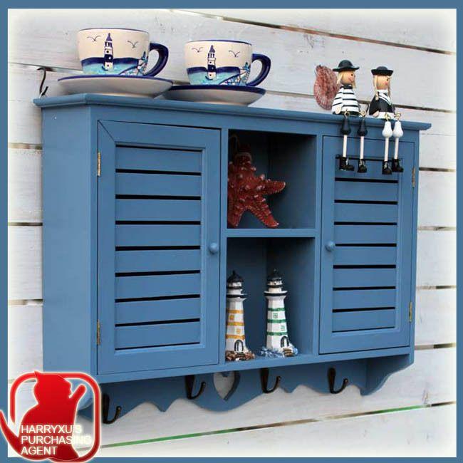 decorazione pittorica di legno di stoccaggio mostra espositiva gancio mediterraneo mobile credenza armadio in da su Aliexpress.com