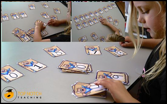 Number order math activities with bears.: