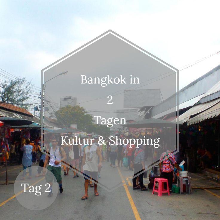 Eine richtig anständige Shoppingtour a la Thailand gehört für mich zum absoluten Pflichtprogramm in Bangkok. Wir besuchen den größten Markt in Thailand, den Chatuchak-Markt, sowie mega Shopping Kom…