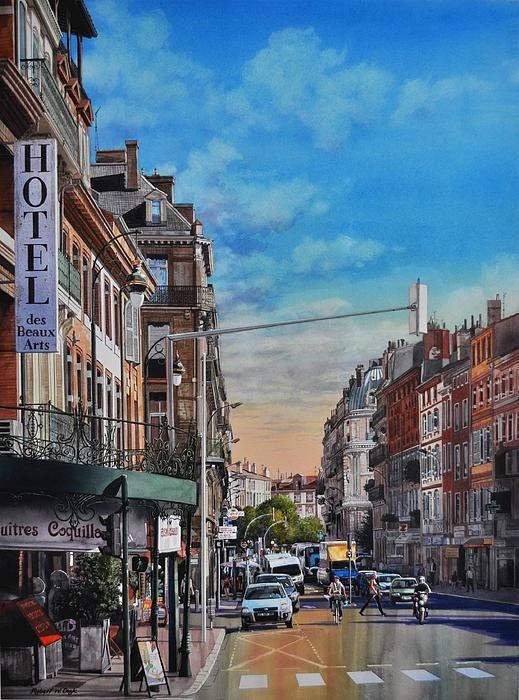 Robert W Cook – Rue De Metz In Toulouse – watercolor http://fineartamerica.com/featured/rue-de-metz-in-toulouse-robert-w-cook.html
