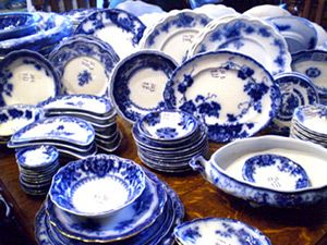 flow blue | Photo: #Tessie Bowman's collection of Flow Blue china