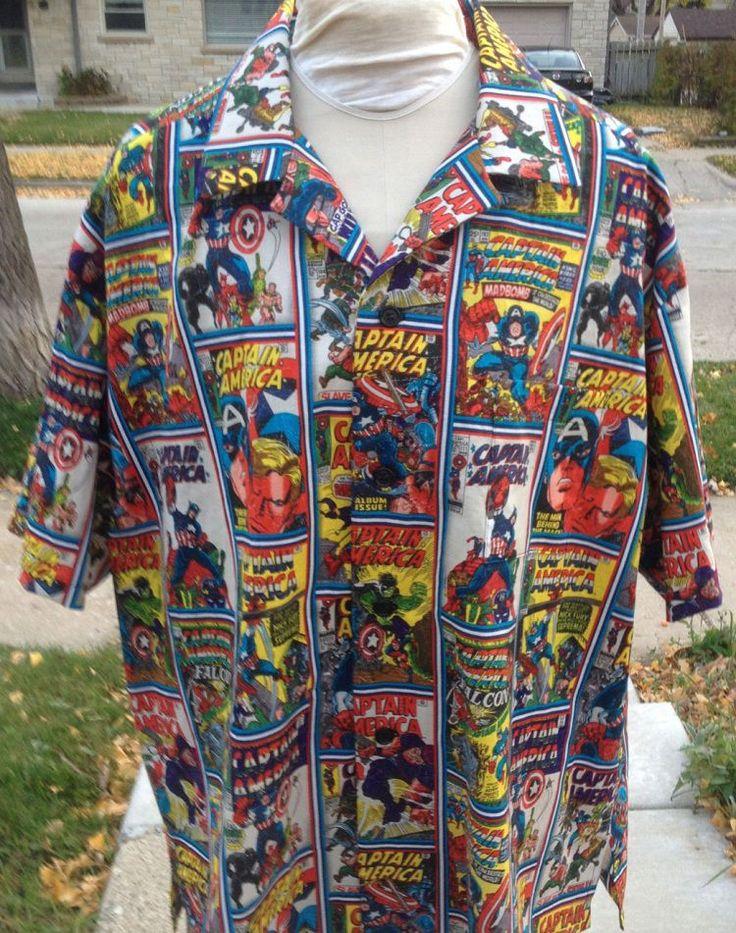 Captain America Retro Comic Shirt- Hawaiian Style