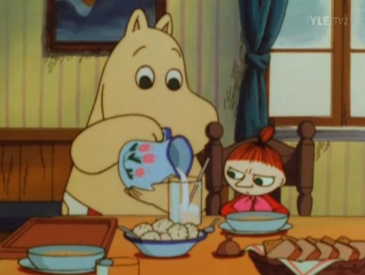 Moomin Mama and Little My-