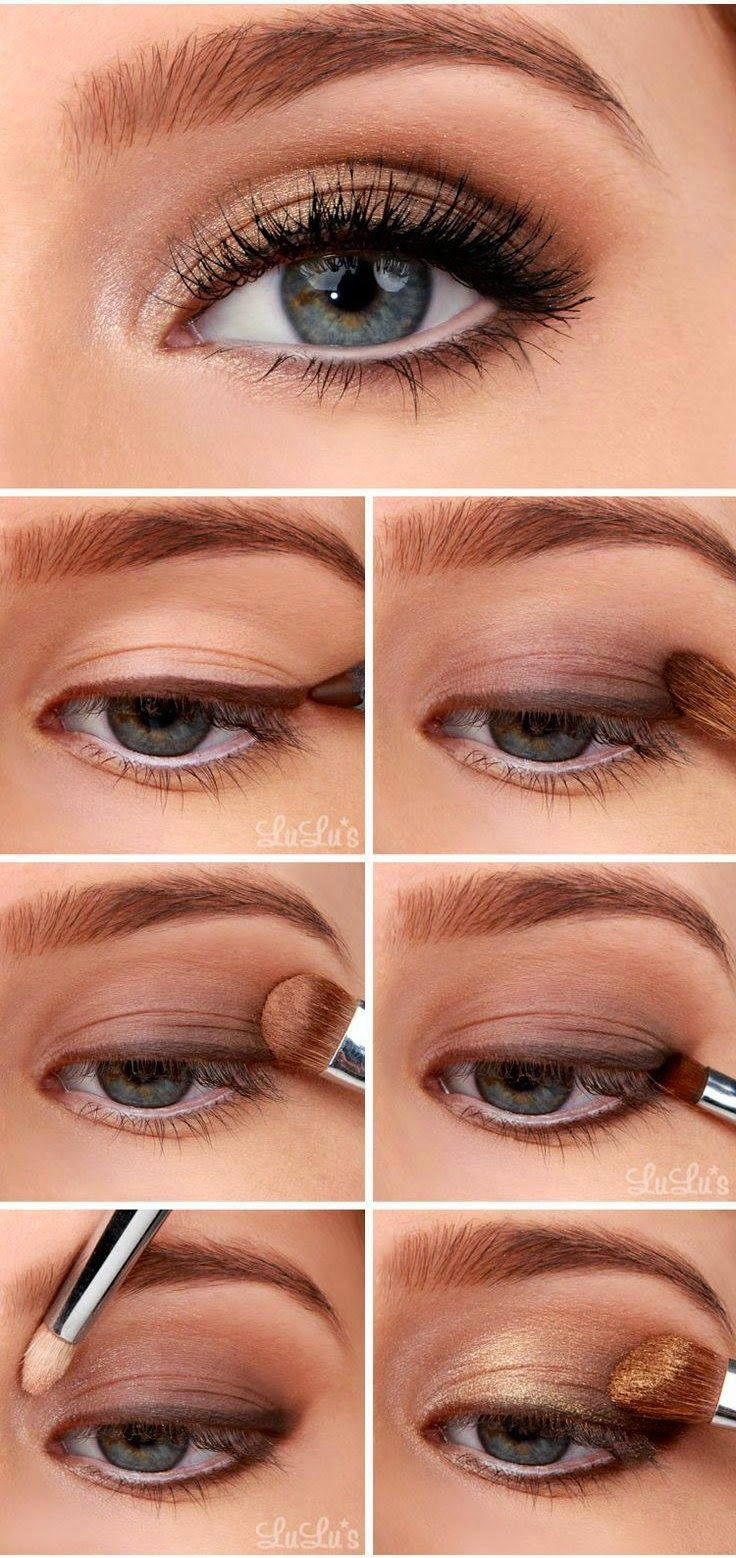 Bronze eye makeup tutorial
