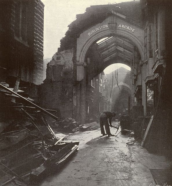 1940. September. Burlington Arcade by Lee Miller #WW2 #world war #britain