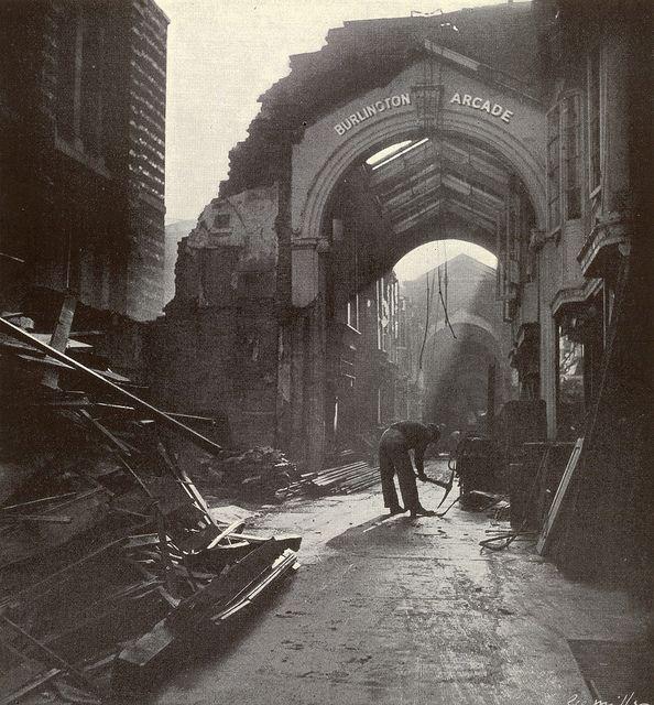 1940. September. Burlington Arcade by Lee Miller #WW2 #world war #britain                                                                                                                                                     More