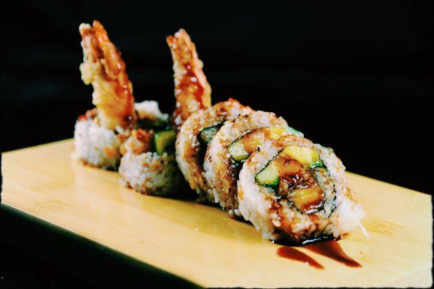 Shrimp Tempura Roll no Restaurante Japonês Asaka em Aventura, FL